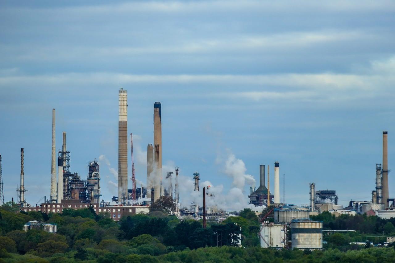 refinery, oil refinery, oil